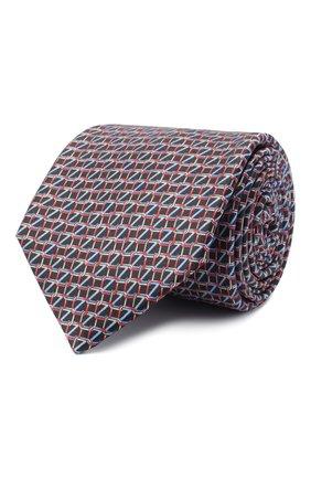 Мужской шелковый галстук ZILLI черного цвета, арт. 51053/TIE   Фото 1 (Материал: Текстиль; Принт: С принтом)