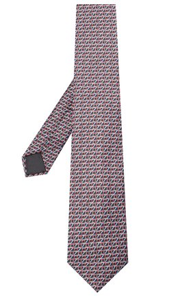 Мужской шелковый галстук ZILLI черного цвета, арт. 51053/TIE   Фото 2 (Материал: Текстиль; Принт: С принтом)