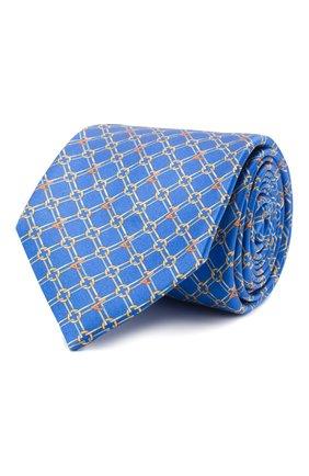 Мужской шелковый галстук ZILLI синего цвета, арт. 51050/TIE | Фото 1