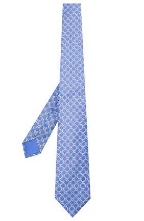 Мужской шелковый галстук ZILLI синего цвета, арт. 51050/TIE | Фото 2