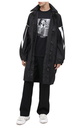 Мужская хлопковая футболка NEIL BARRETT черного цвета, арт. PBJT816S/P531S | Фото 2
