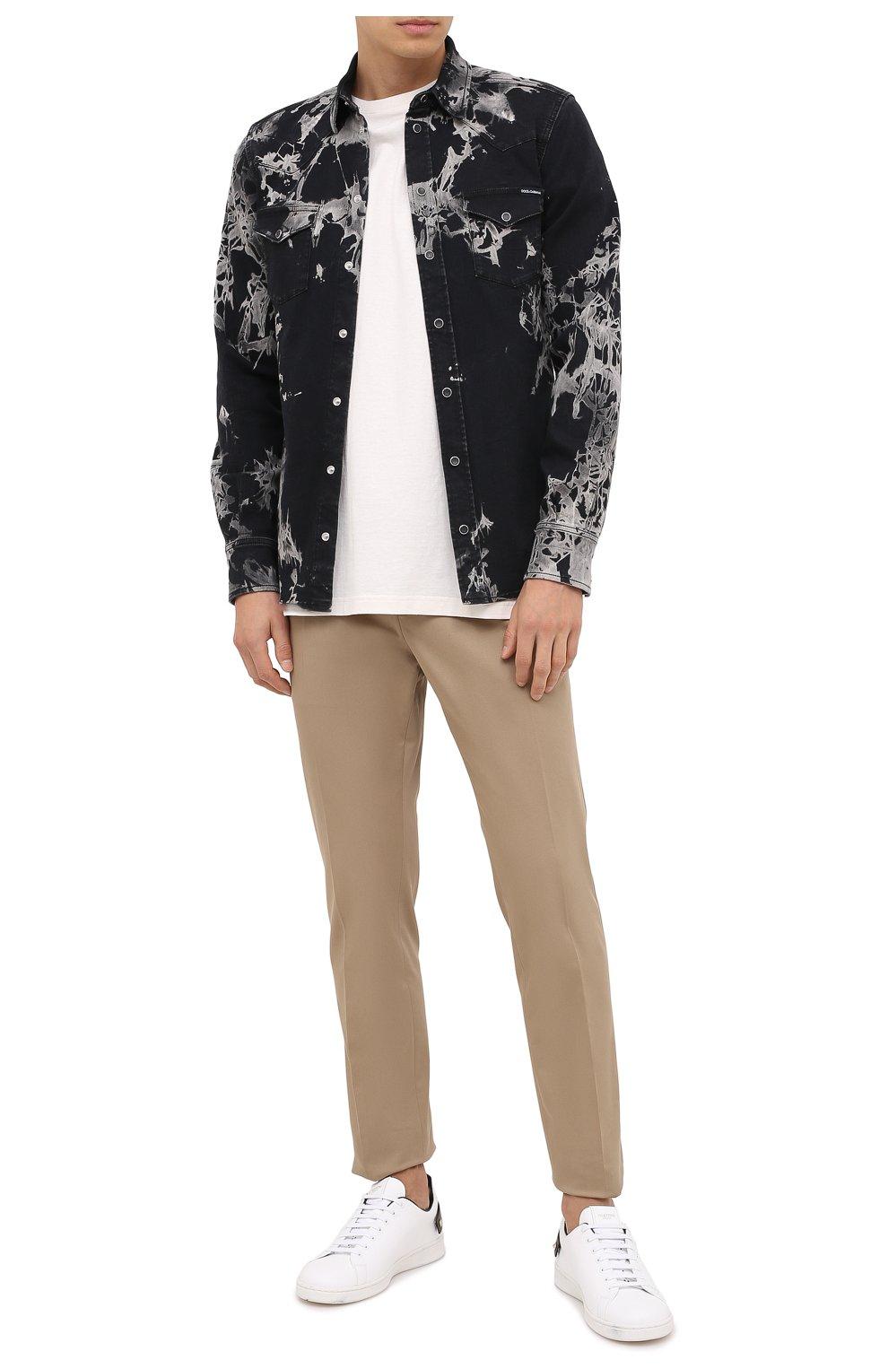 Мужская джинсовая рубашка DOLCE & GABBANA черного цвета, арт. G5EX7D/G8CV9 | Фото 2