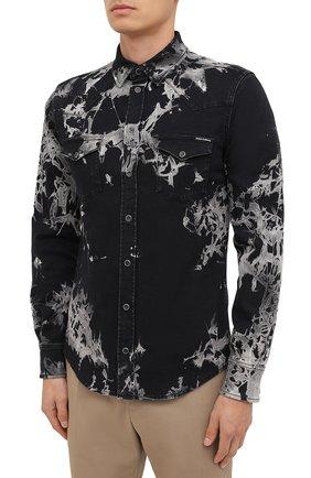 Мужская джинсовая рубашка DOLCE & GABBANA черного цвета, арт. G5EX7D/G8CV9 | Фото 3