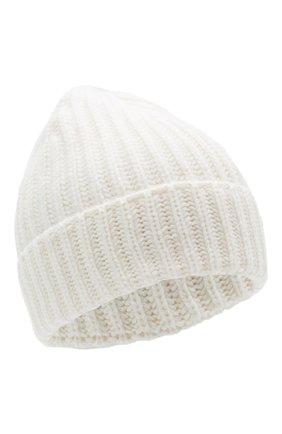 Мужская кашемировая шапка GRAN SASSO белого цвета, арт. 10162/15552 | Фото 1