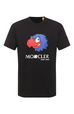 Мужская хлопковая футболка 2 moncler 1952 MONCLER GENIUS черного цвета, арт. F2-092-8C716-10-829FB | Фото 1