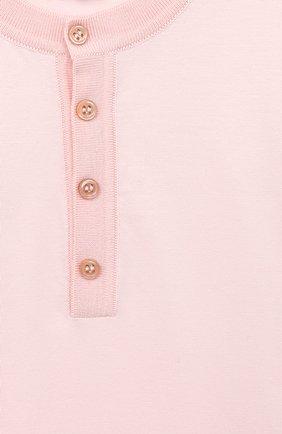 Детское хлопковое боди LORO PIANA светло-розового цвета, арт. FAI7577 | Фото 3