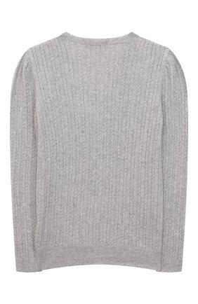 Детский кашемировый кардиган GIORGETTI CASHMERE светло-серого цвета, арт. MB1689/2A-6A   Фото 2