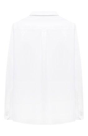 Детская хлопковая рубашка DOLCE & GABBANA белого цвета, арт. L42S70/G7WXV/2-6 | Фото 2 (Материал внешний: Хлопок; Рукава: Длинные; Стили: Классический; Ростовка одежда: 2 года | 92 см, 3 года | 98 см, 4 года | 104 см, 5 лет | 110 см, 6 лет | 116 см)