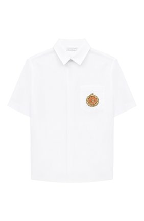 Детская сорочка с короткими рукавами DOLCE & GABBANA белого цвета, арт. L42S79/G7WXW/8-14 | Фото 1