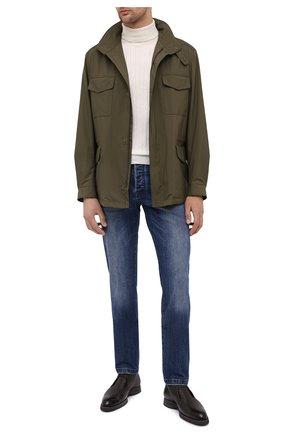 Мужская куртка traveller LORO PIANA хаки цвета, арт. FAI1437 | Фото 2