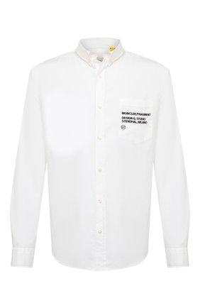 Мужская хлопковая рубашка 7 moncler fragment hiroshi fujiwara MONCLER GENIUS белого цвета, арт. F2-09U-2F700-10-54A69 | Фото 1