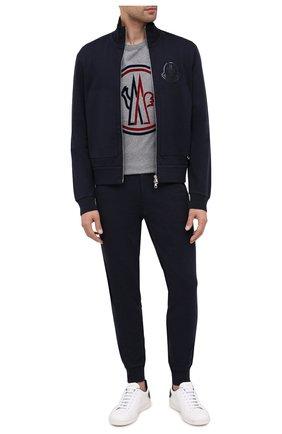 Мужская хлопковая футболка MONCLER серого цвета, арт. F2-091-8C748-10-8390T | Фото 2
