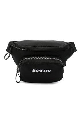 Мужская текстильная поясная сумка durance MONCLER черного цвета, арт. F2-09A-5M702-10-02SJM | Фото 1 (Ремень/цепочка: На ремешке; Материал: Текстиль)