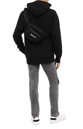 Мужская текстильная поясная сумка durance MONCLER черного цвета, арт. F2-09A-5M702-10-02SJM | Фото 2 (Ремень/цепочка: На ремешке; Материал: Текстиль)