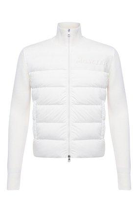 Мужская комбинированный кардиган MONCLER белого цвета, арт. F2-091-9B516-00-A9422 | Фото 1