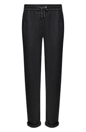 Женские брюки из хлопка и шелка BRUNELLO CUCINELLI темно-серого цвета, арт. MD828SB899 | Фото 1