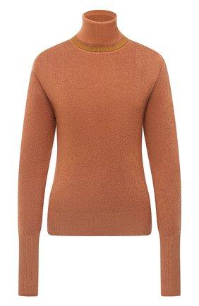 Женская водолазка из шерсти и шелка CHLOÉ оранжевого цвета, арт. CHC20AMP51620 | Фото 1