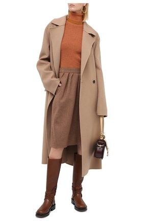 Женская водолазка из шерсти и шелка CHLOÉ оранжевого цвета, арт. CHC20AMP51620 | Фото 2