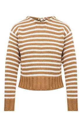 Женский свитер из хлопка и вискозы CHLOÉ коричневого цвета, арт. CHC20AMP01540   Фото 1