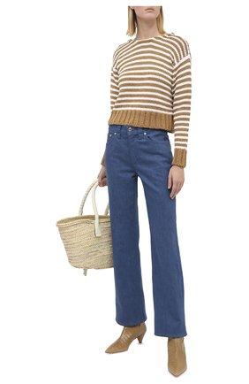 Женский свитер из хлопка и вискозы CHLOÉ коричневого цвета, арт. CHC20AMP01540   Фото 2
