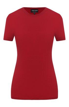 Женский топ из шерсти и шелка GIORGIO ARMANI красного цвета, арт. 6HAM09/AM38Z | Фото 1