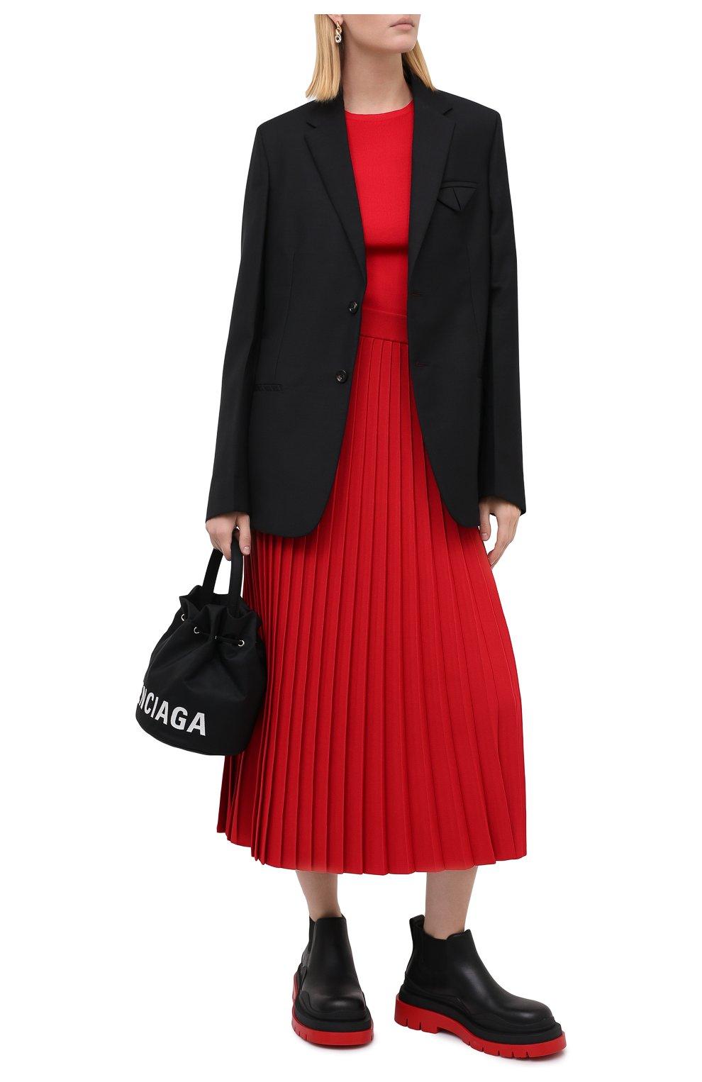 Женская юбка из вискозы BALENCIAGA красного цвета, арт. 620998/T5133 | Фото 2