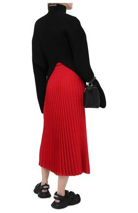 Женская юбка из вискозы BALENCIAGA красного цвета, арт. 620998/T5133 | Фото 3
