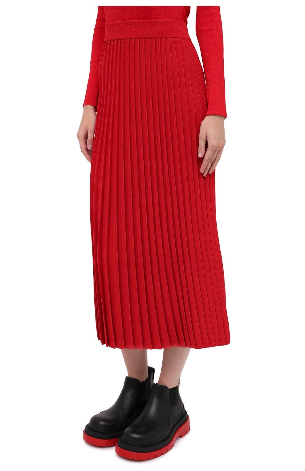 Женская юбка из вискозы BALENCIAGA красного цвета, арт. 620998/T5133 | Фото 4