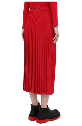 Женская юбка из вискозы BALENCIAGA красного цвета, арт. 620998/T5133 | Фото 5