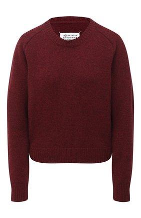 Женский шерстяной свитер MAISON MARGIELA бордового цвета, арт. S51GP0203/S17483   Фото 1