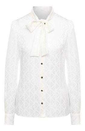 Женская шелковая блузка DOLCE & GABBANA белого цвета, арт. F5I11T/FJ1IB | Фото 1