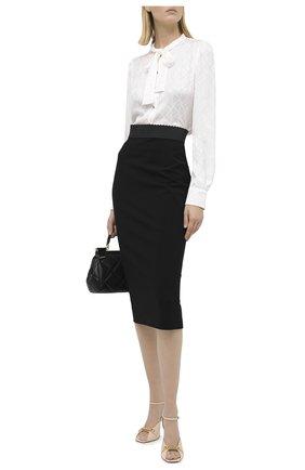 Женская шелковая блузка DOLCE & GABBANA белого цвета, арт. F5I11T/FJ1IB | Фото 2