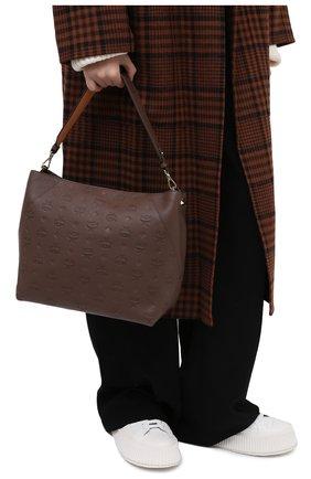 Женский сумка klara medium MCM коричневого цвета, арт. MWH AAKM03 | Фото 2