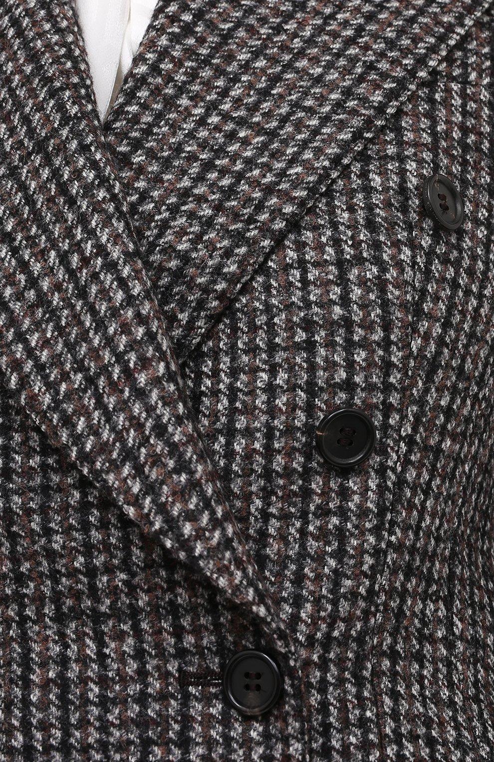 Женский шерстяной жакет DOLCE & GABBANA темно-серого цвета, арт. F29GYT/FMMFU   Фото 6