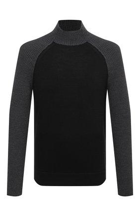 Мужской шерстяной свитер TRANSIT серого цвета, арт. CFUTRM14490   Фото 1