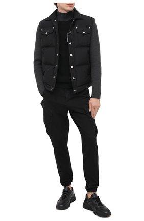 Мужской шерстяной свитер TRANSIT серого цвета, арт. CFUTRM14490   Фото 2