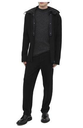 Мужской шерстяной свитер TRANSIT серого цвета, арт. CFUTRM18530   Фото 2