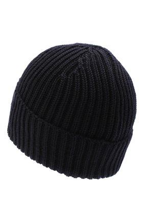 Мужская шерстяная шапка C.P. COMPANY темно-синего цвета, арт. 09CMAC239A-005509A | Фото 2