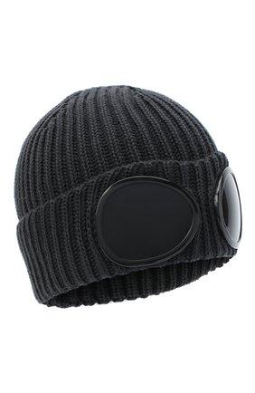 Мужская шерстяная шапка C.P. COMPANY серого цвета, арт. 09CMAC239A-005509A | Фото 1
