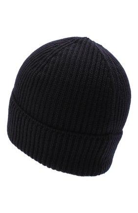 Мужская шерстяная шапка C.P. COMPANY темно-синего цвета, арт. 09CMAC241A-005509A | Фото 2