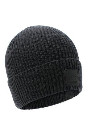 Мужская шерстяная шапка C.P. COMPANY серого цвета, арт. 09CMAC241A-005509A | Фото 1