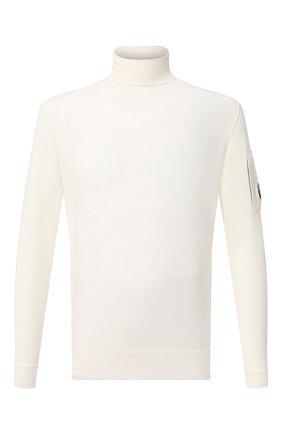 Мужской шерстяная водолазка C.P. COMPANY белого цвета, арт. 09CMKN101A-005528A | Фото 1