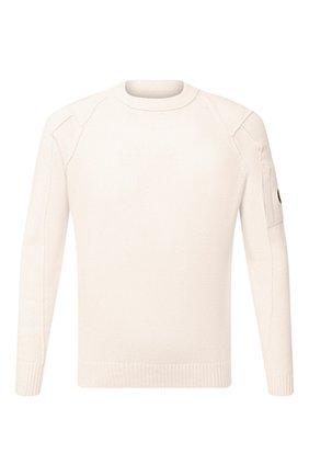 Мужской шерстяной джемпер C.P. COMPANY белого цвета, арт. 09CMKN111A-005504A | Фото 1