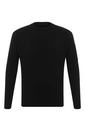Мужской шерстяной джемпер C.P. COMPANY черного цвета, арт. 09CMKN111A-005504A | Фото 1