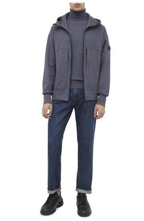 Мужская хлопковая толстовка C.P. COMPANY темно-синего цвета, арт. 09CMSS036A-005086W | Фото 2