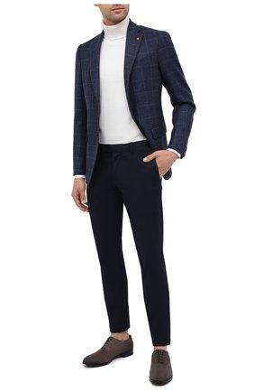 Мужские хлопковые брюки  POLO RALPH LAUREN темно-синего цвета, арт. 710644990   Фото 2