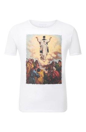 Мужская хлопковая футболка BISIBIGLIO белого цвета, арт. LU JESUS BATMAN | Фото 1