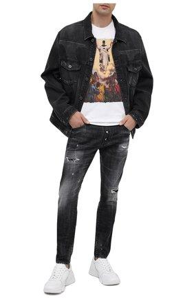 Мужская хлопковая футболка BISIBIGLIO белого цвета, арт. LU JESUS BATMAN | Фото 2