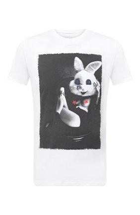 Мужская хлопковая футболка BISIBIGLIO белого цвета, арт. LU SAB0 RABBIT/PESANTE | Фото 1