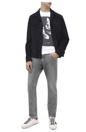 Мужская хлопковая футболка BISIBIGLIO белого цвета, арт. LU SAB0 RABBIT/PESANTE | Фото 2